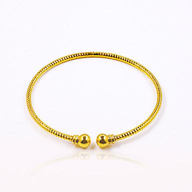 للرجال / للمرأة مطلية بالذهب أساور اصفاد - مخصص / قديم / أساسي دائري / بيضوي ذهبي سوار من أجل حزب / عيد ميلاد / هدية