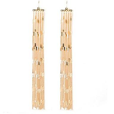 Damen Tropfen-Ohrringe überdimensional Bling Bling individualisiert Aleación Linienform Schmuck Für Sonstiges Strasse Klub