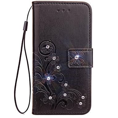 Hoesje voor Samsung Galaxy J7 j5 hoesje hoesje kaarthouder portemonnee met tribune flip reliëf full body hoesje vaste kleur bloem hard pu