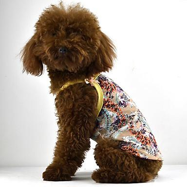 Câine Rochii Îmbrăcăminte Câini Floral/Botanic Galben Rosu Verde Bumbac Costume Pentru animale de companie Bărbați Pentru femei