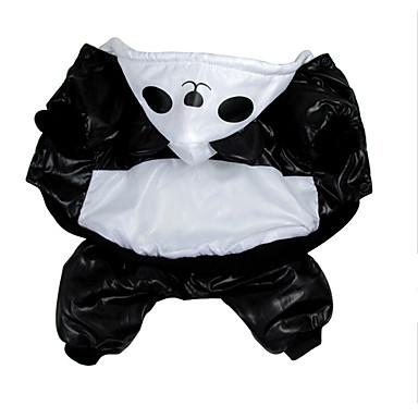 Câine Costume Îmbrăcăminte Câini Urs Negru/Alb Bumbac Costume Pentru animale de companie Bărbați Pentru femei Petrecere