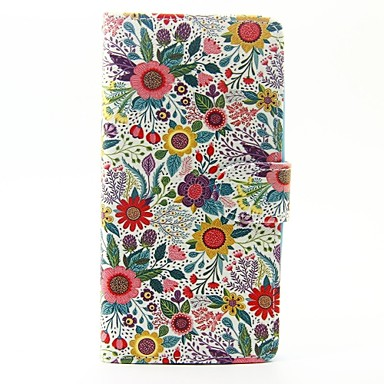 Caz pentru wiko lenny 3 lenny 2 caz acoperă florile modele pu piele cazurile pentru apus de soare wiko 2