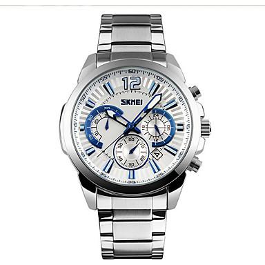 SKMEI Bărbați Ceas de Mână Ceas La Modă Ceas Sport Chineză Quartz Calendar Cronograf Rezistent la Apă Mare Dial Cronometru Aliaj Bandă