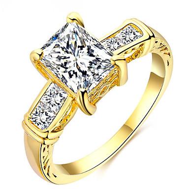 Pentru femei Band Ring Personalizat Lux Clasic De Bază Sexy Iubire Elegant Cute Stil Modă Aliaj Pătrat Aripi / Pene Bijuterii Crăciun