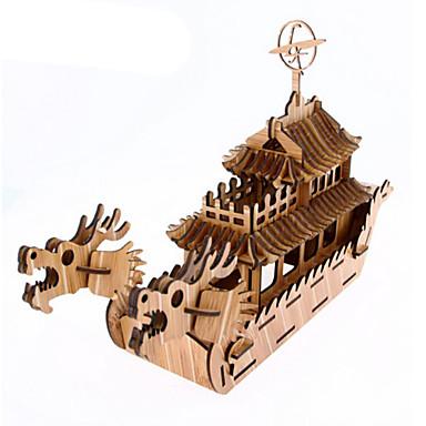قطع تركيب3D تركيب النماذج الخشبية سفينة حربية سفينة 3D اصنع بنفسك خشب الخشب الطبيعي للجنسين هدية
