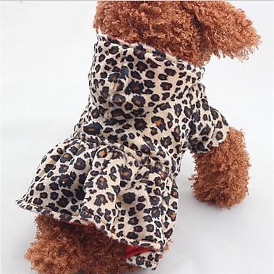Câine Hanorace cu Glugă Rochii Îmbrăcăminte Câini Leopard Bumbac Jos Costume Pentru animale de companie Bărbați Pentru femei Casul /
