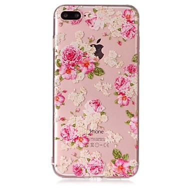 Hülle Für Apple iPhone 7 Plus iPhone 7 Transparent Muster Geprägt Rückseite Blume Weich TPU für iPhone 7 Plus iPhone 7 iPhone 6s Plus