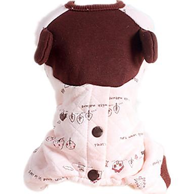 Câine Salopete Îmbrăcăminte Câini Casul/Zilnic Frunză Roz Costume Pentru animale de companie