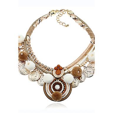 Pentru femei Circle Shape Lux Natură Modă Gotic Bijuterii Statement Coliere Bijuterii Flanelă Aliaj Coliere . Crăciun Petrecere Scenă
