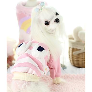كلب كنزة ملابس الكلاب أميرة زهري قطن بطانة فرو كوستيوم للحيوانات الأليفة كاجوال/يومي