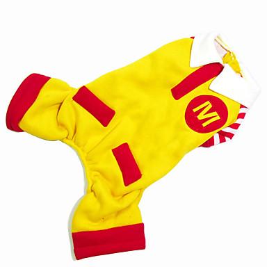 Hond kostuums Jumpsuits Hondenkleding Cosplay Kleurenblok Geel Kostuum Voor huisdieren