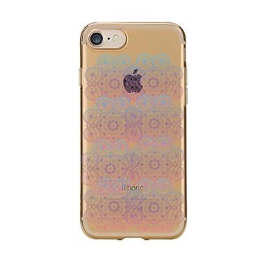 Hülle Für Apple iPhone 7 Plus iPhone 7 Transparent Muster Rückseite Mandala Weich TPU für iPhone 7 Plus iPhone 7 iPhone 6s Plus iPhone 6s