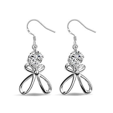 Damen Tropfen-Ohrringe individualisiert nette Art Klassisch Diamantimitate Zirkon Aleación Schleifenform Schmuck FürHochzeit Party Alltag