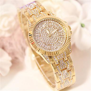 Pentru femei Simulat Diamant Ceas Ceasuri Pave Quartz Aliaj Bandă Sclipici Argint Auriu Roz auriu