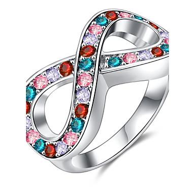 Damen Bandring Kristall Personalisiert Luxus Klassisch Grundlegend Sexy Liebe Elegant nette Art Modisch Krystall Aleación Unendlichkeit