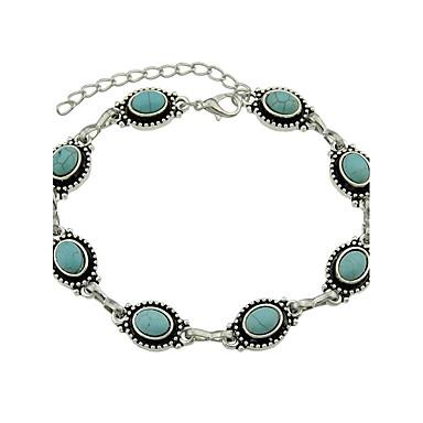 Χαμηλού Κόστους Κοσμήματα σώματος-Γυναικεία Συνθετικό Σμαράγδι Βραχιόλι αστραγάλου κυρίες Πανκ Μοντέρνα Σμαραγδί Βραχιόλι αστραγάλου Κοσμήματα Μπλε Για Καθημερινά Causal