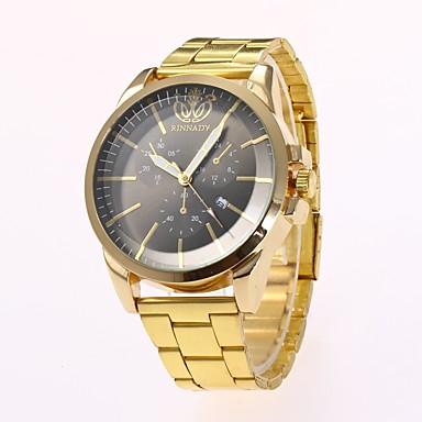 Bărbați Ceas Elegant  Ceas La Modă Ceas de Mână Chineză Quartz imitație de diamant Aliaj Bandă Casual Elegant Auriu