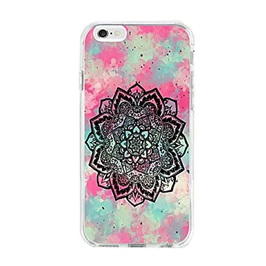 case pentru iphone 7 6 mandala tpu soft ultra-subțire spate cover cover case iphone 7 plus 6 6s plus se 5s 5 5c 4s 4