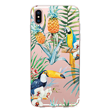 Coque Pour Apple iPhone X / iPhone 8 Transparente / Motif Coque Animal / Fruit / Fleur Flexible TPU pour iPhone X / iPhone 8 Plus / iPhone 8