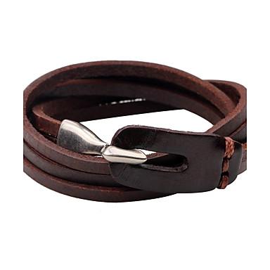 Herrn Damen Lederarmbänder Leder Personalisiert Simple Style Armbänder Schmuck Schwarz / Braun Für Normal Ausgehen