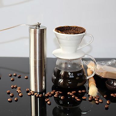 Kaffekvern, rustfritt stål, håndlaget kaffebønnefabrikant