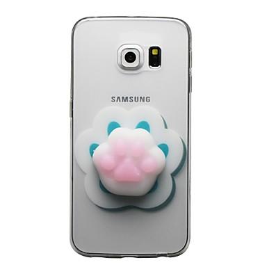 Maska Pentru Samsung Galaxy S8 Plus S8 Transparent Model squishy Reparații Capac Spate Pisica Desene 3D Moale TPU pentru S8 Plus S8 S7