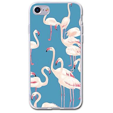 Maska Pentru Apple iPhone 7 iPhone 7 Plus Transparent Model Carcasă Spate Flamingo Animal Desene Animate Moale TPU pentru iPhone 7 Plus