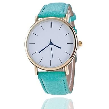 Pentru femei Ceas de Mână Ceas Elegant  Chineză Quartz PU Bandă Charm Casual Elegant Negru Alb Albastru Roșu Maro Verde Pink Violet Bej
