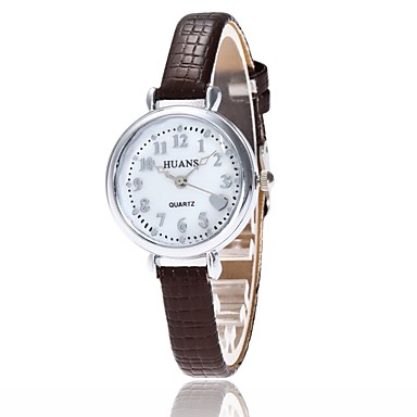 Pentru femei Ceas de Mână Ceas Elegant  Ceas La Modă Chineză Quartz PU Bandă Charm Casual Elegant Negru Alb Albastru Roșu Maro Pink