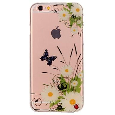 Pentru iPhone 7 iPhone 7 Plus Carcase Huse Ultra subțire Model Carcasă Spate Maska Fluture Floare Moale TPU pentru Apple iPhone 7 Plus