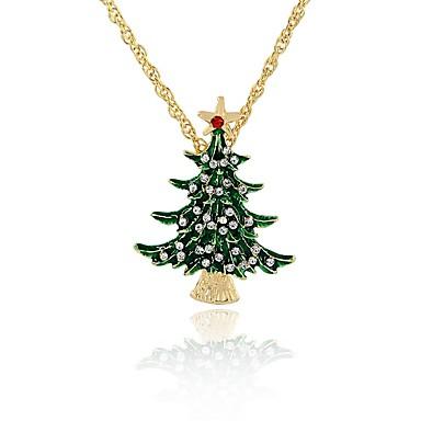 Pentru femei Copacul Vieții Clasic Modă Coliere cu Pandativ Diamant sintetic Aliaj Coliere cu Pandativ . Crăciun Serată