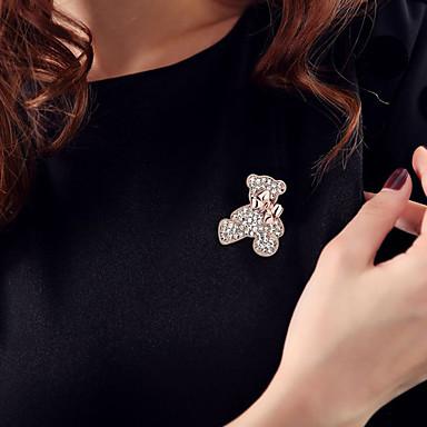Pentru femei Broșe Ștras La modă Cute Stil Ștras Aliaj Bijuterii Urs Bijuterii Pentru Zilnic Casual