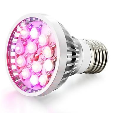 1szt 8W 600-680lm E14 GU10 E26 / E27 Rosnąca żarówka 12 Koraliki LED High Power LED Naturalna biel UV (podświetlenie) Niebieski Czerwony