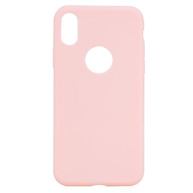 Pentru iPhone X iPhone 8 iPhone 8 Plus Carcase Huse Mătuit Carcasă Spate Maska Culoare solidă Moale TPU pentru Apple iPhone X iPhone 8