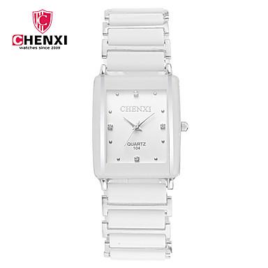 billige Herreure-CHENXI® Par Armbåndsur Japansk Quartz Sort / Hvid Sej Analog Vedhæng Luksus Klassisk Afslappet Mode - Hvid Sort