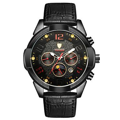 Bărbați Ceas Sport Ceas Schelet Ceas La Modă ceas mecanic Chineză Mecanism automat Calendar Rezistent la Apă Luminos Iluminat Oțel