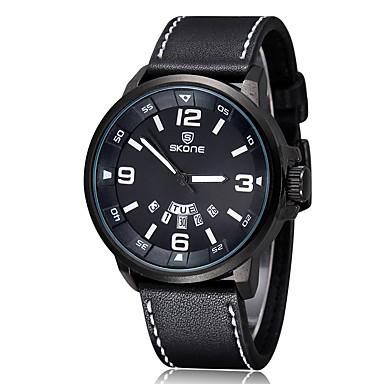Bărbați Pentru femei Quartz Ceas digital Ceas de Mână Uita-te inteligent Ceas Militar  Ceas Sport Chineză Calendar Mare Dial Piele Bandă