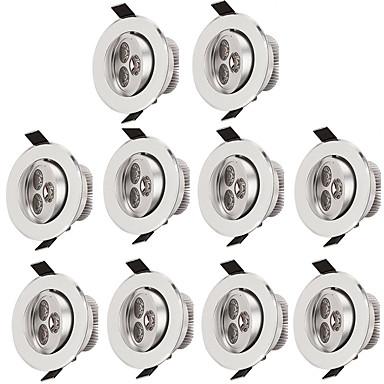 billige Indendørsbelysning-10pcs 3 W 300 lm 3 LED Perler Let Instalation Forsænket Loftslys Varm hvid Kold hvid 85-265 V Kommercielt Hjem / kontor Stue / spisestue / 10 stk. / RoHs / CE