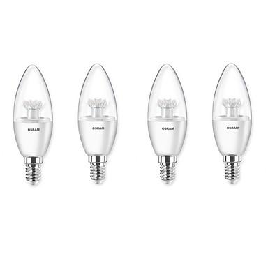 3W E14 Becuri LED Lumânare 6 250 lm Alb Cald 2700 K AC220 V 4 buc