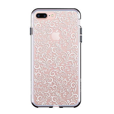 Coque Pour Apple iPhone 7 Plus iPhone 7 Ultrafine Transparente Motif Coque Carreau vernisé Flexible TPU pour iPhone 7 Plus iPhone 7