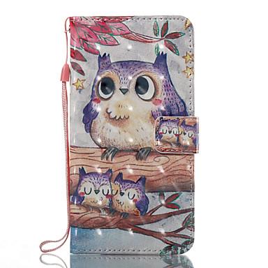 voordelige Galaxy J-serie hoesjes / covers-hoesje Voor Samsung Galaxy J7 (2017) / J7 (2016) / J5 (2017) Portemonnee / Kaarthouder / met standaard Volledig hoesje Uil Hard PU-nahka