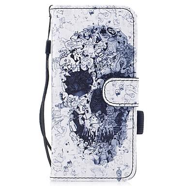 Кейс для Назначение SSamsung Galaxy S8 Plus S8 Бумажник для карт Кошелек со стендом Флип Магнитный С узором Чехол Черепа Твердый Кожа PU