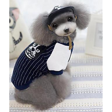 Câine Tricou Îmbrăcăminte Câini Casul/Zilnic Dungi Albastru Închis Gri