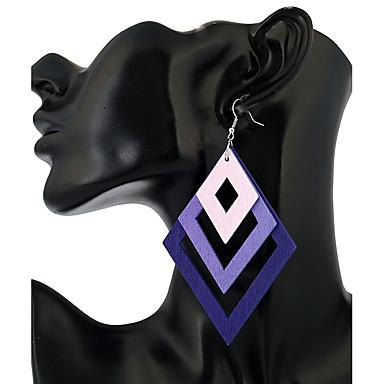 Pentru femei Cercei Picătură Bijuterii stil minimalist La modă Lemn Geometric Shape Bijuterii Pentru Casual Ieșire