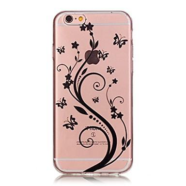 Pentru iPhone 7 iPhone 7 Plus Carcase Huse Ultra subțire Transparent Model Carcasă Spate Maska Fluture Floare Moale TPU pentru Apple