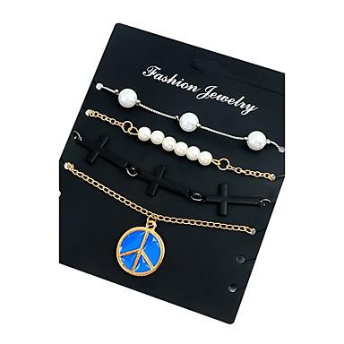 Pentru femei Brățări cu Lanț & Legături Imitație de Perle La modă Elegant Imitație de Perle Aliaj Circle Shape Cross Shape Bijuterii