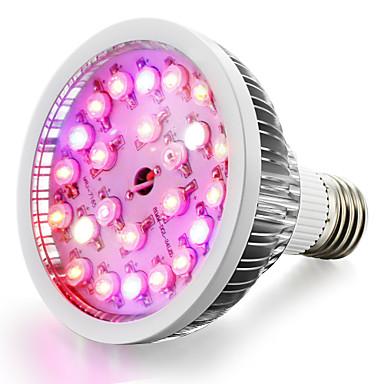 1szt 100-150 lm E26/E27 Lampy szklarniowe LED 24 Diody lED High Power LED Ciepła biel Naturalna biel Czerwony Niebieski UV (podświetlenie)