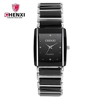 رخيصةأون ساعات الرجال-CHENXI® الزوجين ساعة المعصم ياباني كوارتز أسود / الأبيض كوول مماثل سحر ترف كلاسيكي كاجوال موضة - أبيض أسود
