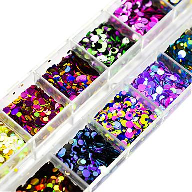 1set Paiete / Glitter de unghii Elegant & Luxos / Strălucitor & Sclipitor / Paiete Nail Art Design