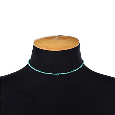 billige Mode Halskæde-Dame Kort halskæde Kædehalskæde Bohemisk Lys pink Lys Grøn Halskæder Smykker Til Fest Daglig